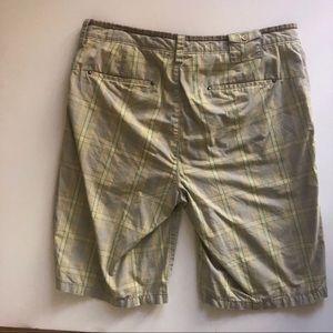 PENGUIN: yellow blue plaid shorts